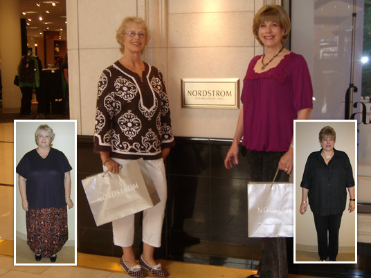 Millie and Janice, Before and After Bariatric Surgery